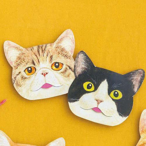 「エキゾチック&ハチワレクロ」猫の舌のしまい忘れあぶらとり紙