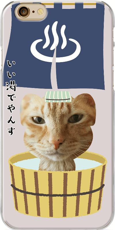 いぬねこクリケで猫の写真をデザインしたiPhoneケースの出来上がりイメージ