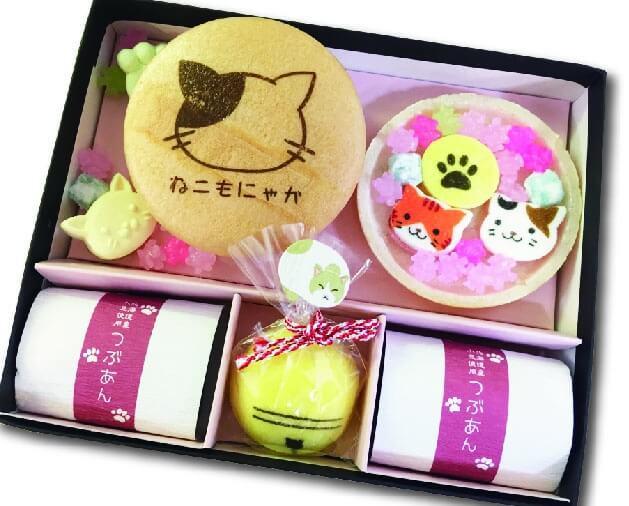 ねこもにゃかの和菓子セット