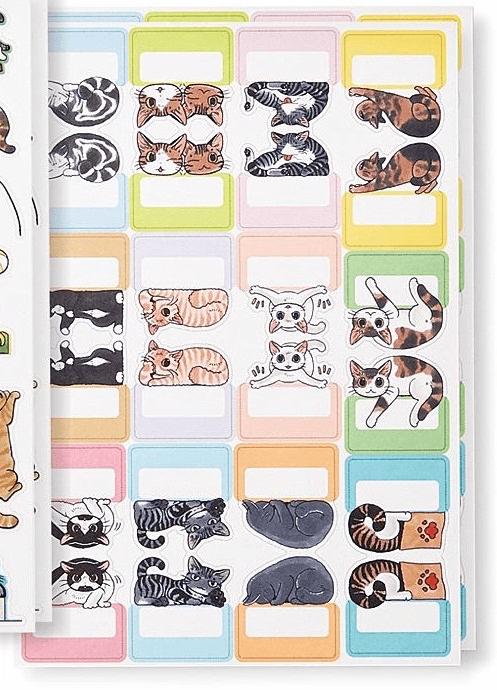 目印になるインデックスシール(猫まみれ手帳シール)