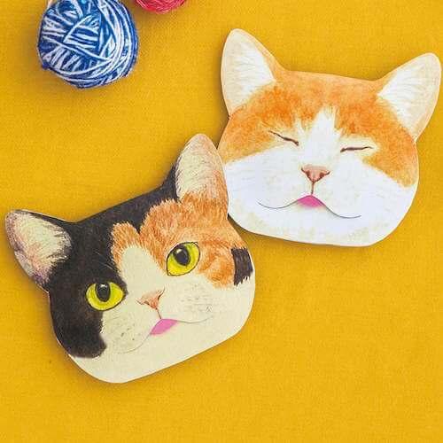「三毛&茶シロ」猫の舌のしまい忘れあぶらとり紙