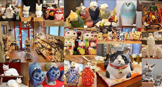 静岡市の葵区鷹匠にあるギャラリー&ショップ「ねこふく」