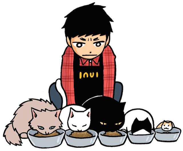 みずしな孝之さんの新作マンガ「猫喫茶いぬい」