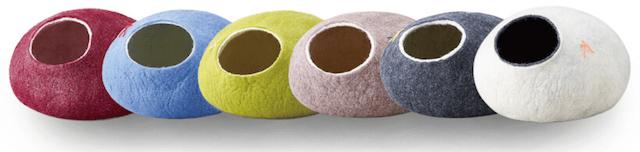 オシャレな北欧デザインの猫ハウス/猫ベッド「kivikis」