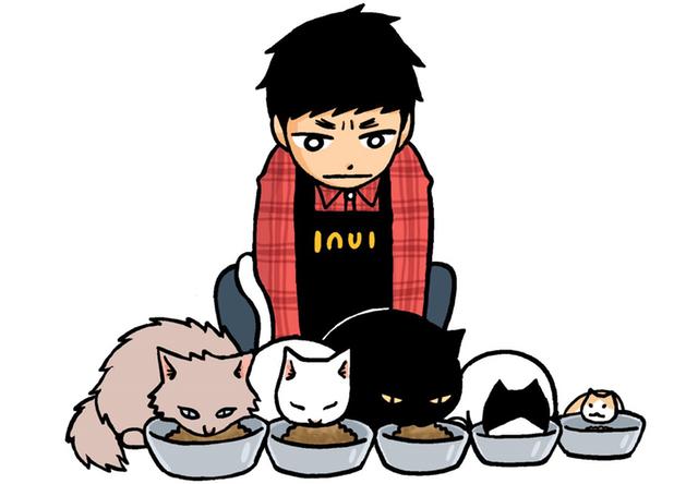 みずしな孝之さんの新作マンガ「猫喫茶いぬい」が連載を開始