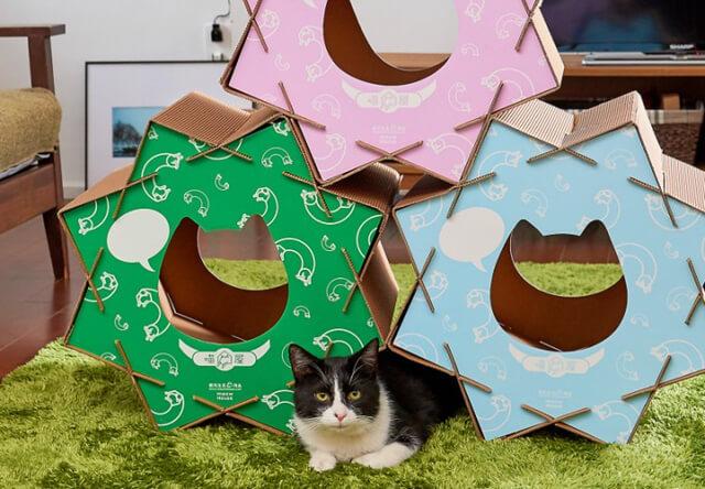あの砂糖菓子をモチーフにした猫ハウス「猫屋 こんぺいとう」