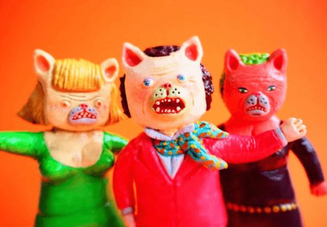 「大阪のおばちゃん×猫」をモチーフにフィギュア「ネコおばさん」