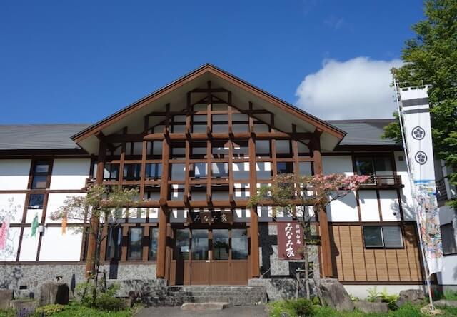 長野県白馬村にある「割烹旅館 みなみ家」の外観