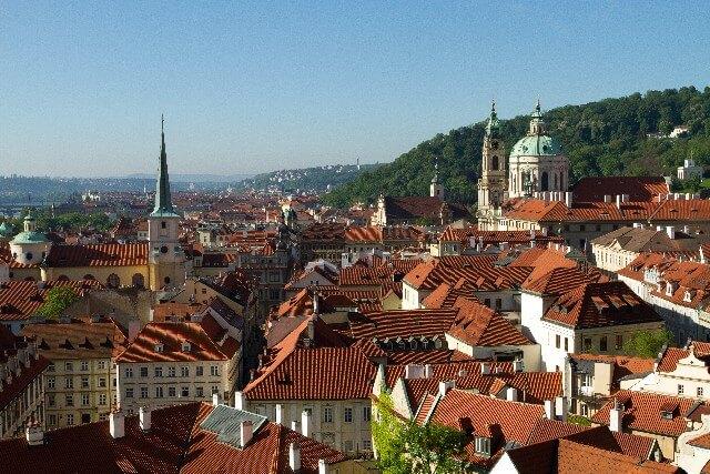 チェコの町並み、プラハ旧市街の写真
