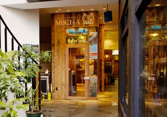 猫カフェ「MoCHA(モカ)」心斎橋店の入口