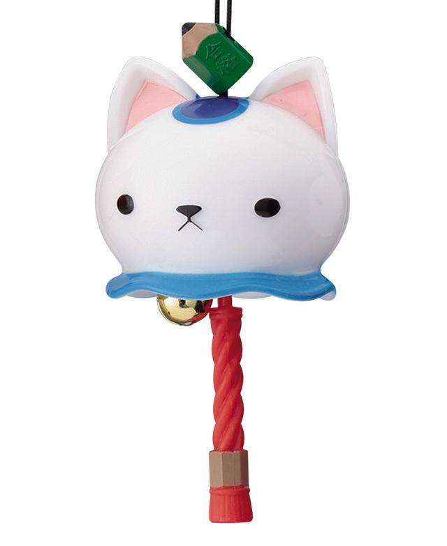 カプセルトイ「開運招福 にゃんこ鈴」白猫×合格鉛筆