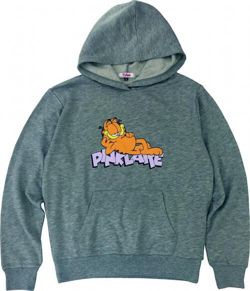 アメリカの人気猫キャラ、ガーフィールド(GARFIELD)のスウェットパーカ/グレー