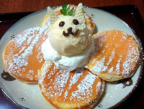 保護猫カフェ「Cafe Gatto」の猫パンケーキ