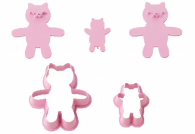 スタンプで表情が作れるだっこネコクッキー型のセット内容