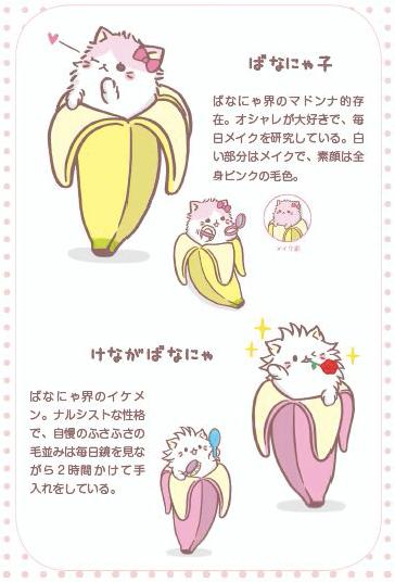 バナナ×猫「ばなにゃ」のキャラクター、ばなにゃ子