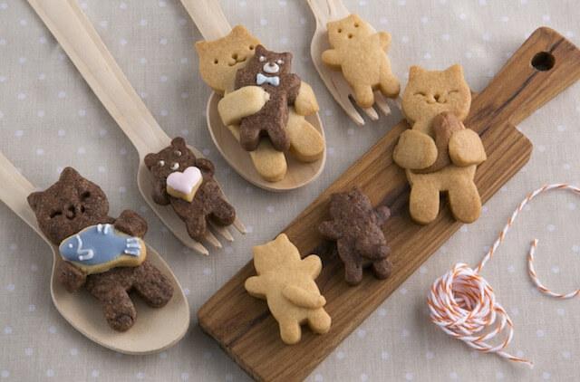 親子ネコのクッキーが作れる、貝印×クックパッドの抜き型