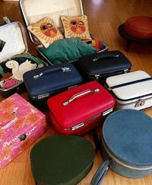 60-70年代のアメリカ製ヴィンテージスーツケースを元に制作された猫ベッド