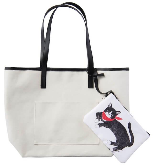 女性誌「Marisol」(マリソル)の猫ポーチ&ビッグトートバッグ