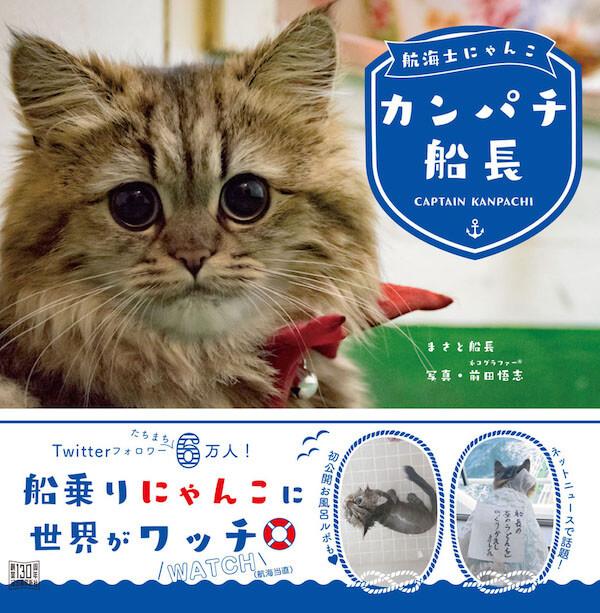 内航船の船乗り猫、「カンパチ船長」の写真集