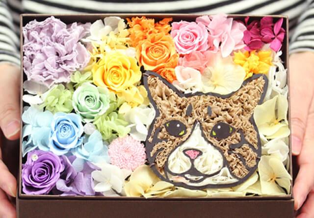 ペットの写真からお花で似顔絵を作れる「動物のお花屋さんマイペリドット」の実店舗が日本橋三越に登場