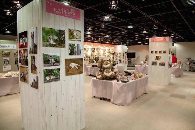 大阪なんばパークスでの「ねこ休み展」展示風景2
