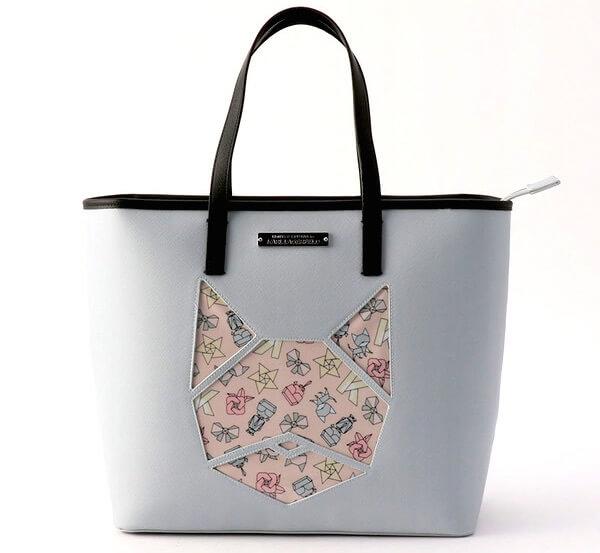 ラガーフェルドがデザインしたオリガミテイストのトートバッグ