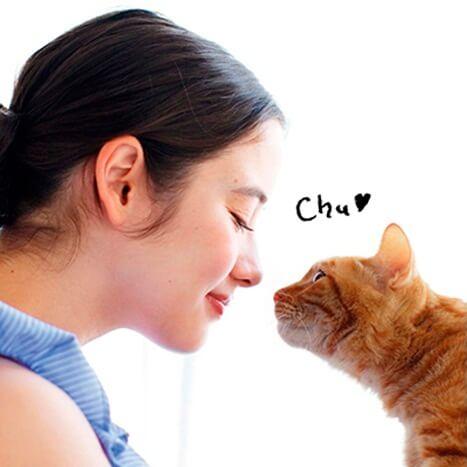 愛猫と鼻キス