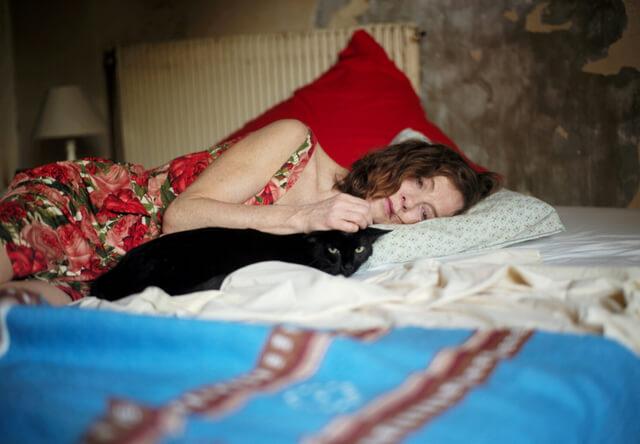 相棒は黒猫、イザベル・ユペール主演の映画「未来よ こんにちは」