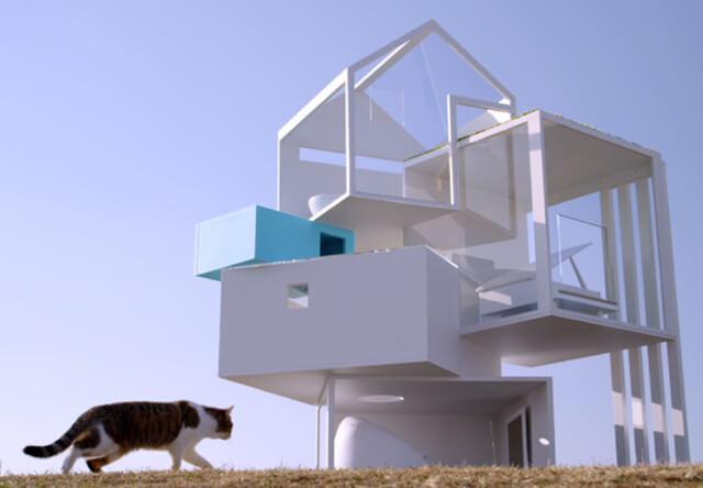 猫の夢がつまった4階建ての猫ハウス「デザイニャーズハウス」