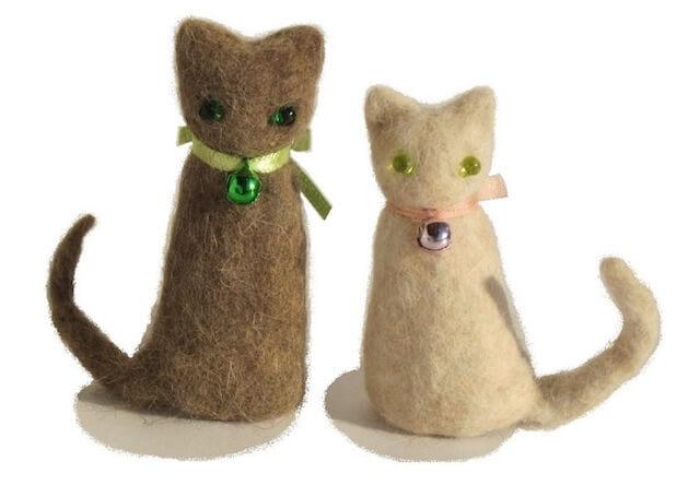 愛猫の毛を集めて作った猫毛フェルト作品(猫毛フェルター蔦谷K)