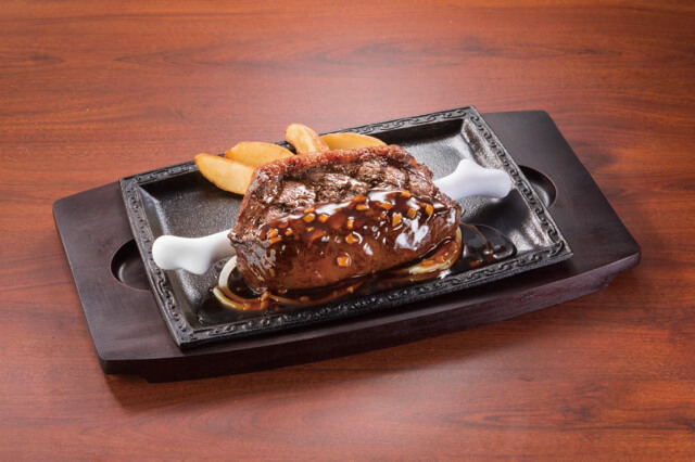ステーキガストの「イチボのこんがり肉」