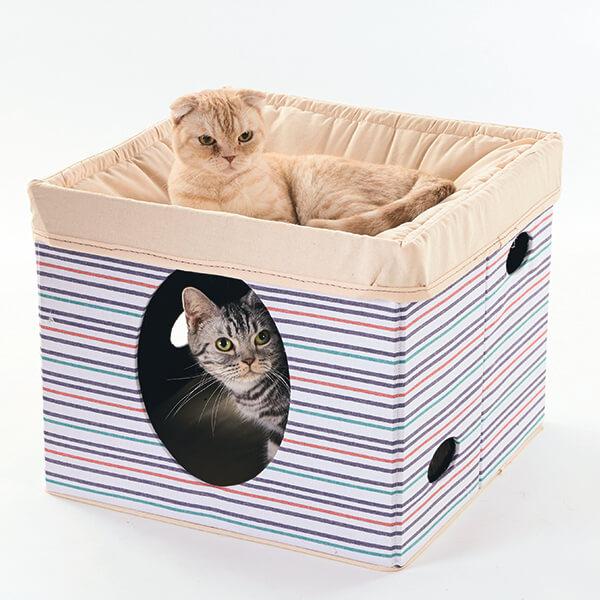 ハンモック付きの猫用ベッド