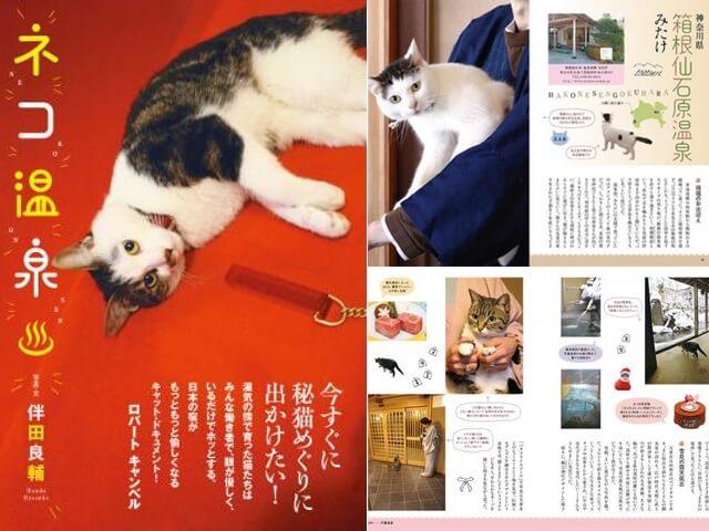 猫がもてなす温泉宿19軒を収録した書籍「ネコ温泉」が登場