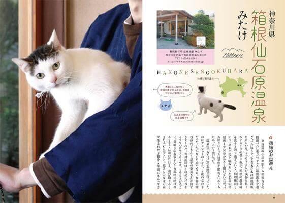 書籍「ネコ温泉」のお温泉宿紹介ページ