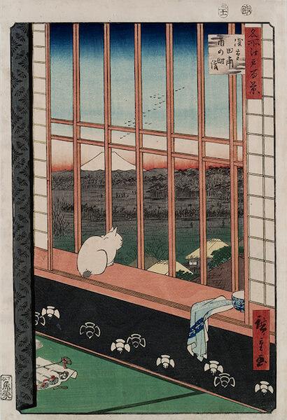 歌川広重 名所江戸百景 浅草田甫酉の町詣 安政4年(1857) 個人蔵