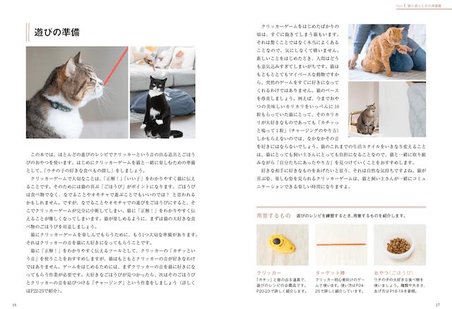 書籍「猫との暮らしが変わる遊びのレシピ」の中身
