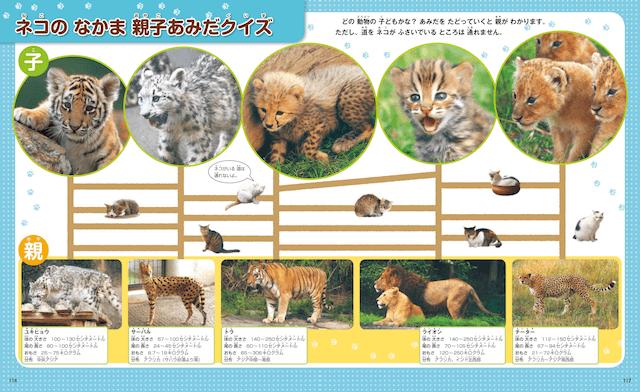 書籍「なぜ?の図鑑 ネコ」、猫の仲間親子当てクイズ