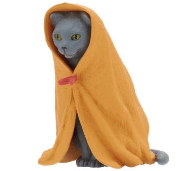 猫フィギュア「ねこくるみ」、グレー猫バージョン