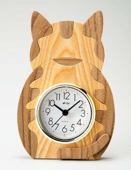 木工房さかい 卓上時計 とら神代