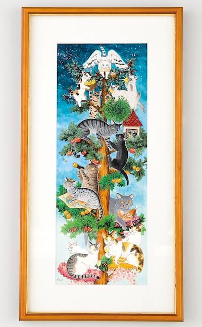 「琴坂映理」原画  ・四季めぐりの樹
