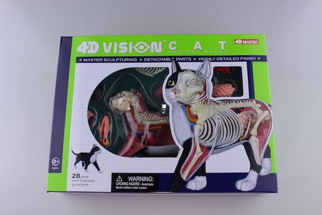 立体パズル 4D VISION 動物解剖 No29 猫 解剖モデル 黒/白