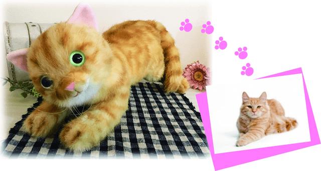猫の写真を元に本物そっくりな猫のぬいぐるみを作ってくれる「愛の猫ちゃん工房」