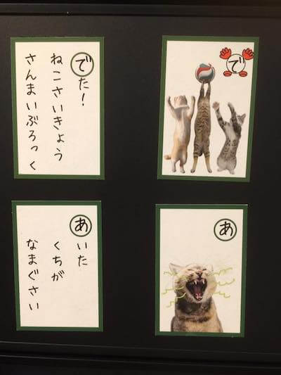 写真家・内田園子さんの作品「ねこねこカルタ」の一例