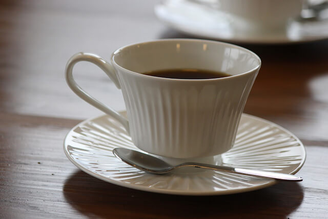 月猫カフェのカフェメニュー、ホットコーヒー