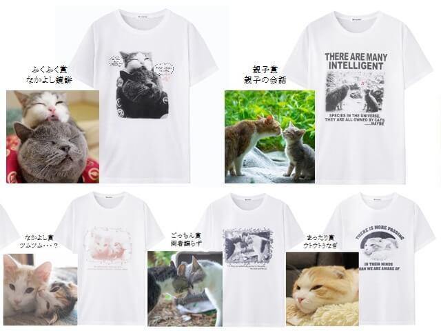 いやしネコ大賞の優秀作品がオリジナルTシャツになって限定発売