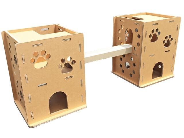 3層強化のダンボールで作った猫ハウス「ニャンだ!!ハウス」