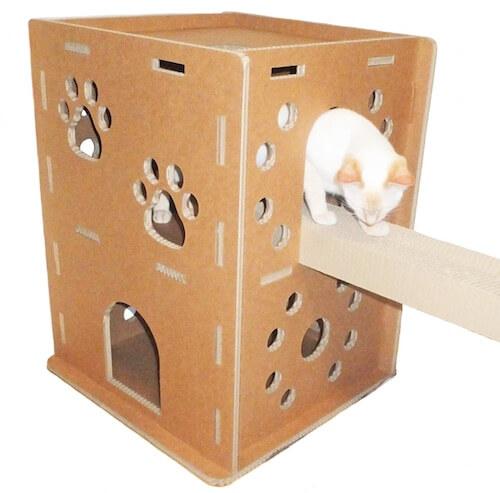 猫がブリッジで爪をとげるニャンだ!!ハウス
