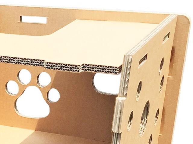 ニャンだ!!ハウスは3層構造のダンボール製猫ハウス