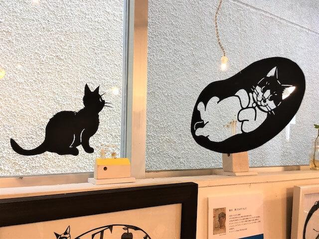 きりえや高木亮の作品、猫の切り絵