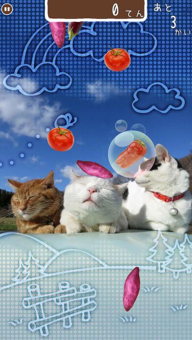 のせ猫がたくさん登場するスマホゲーム「のせて のせ猫」